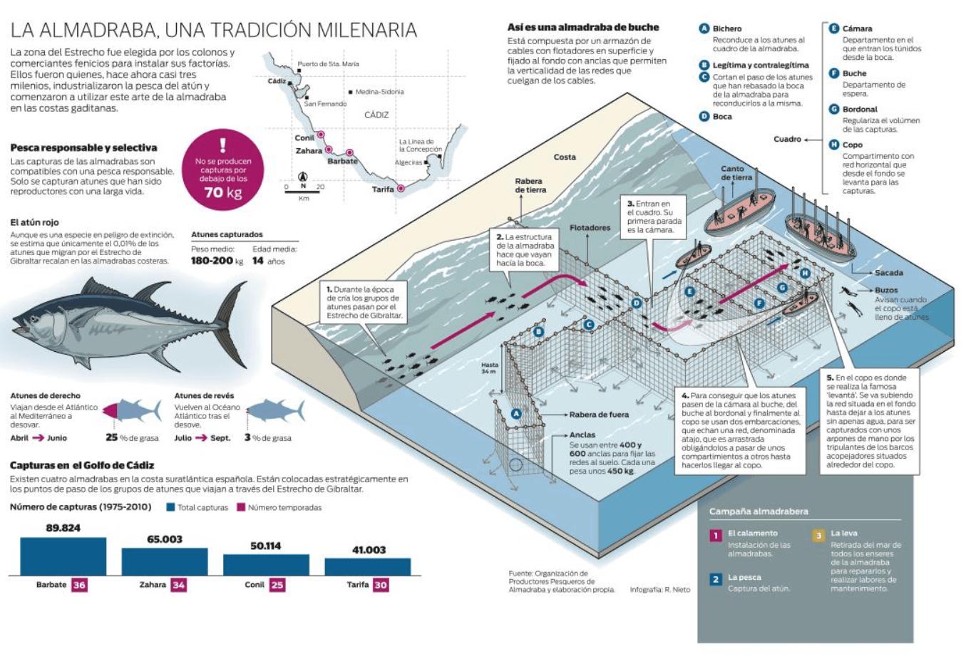 La Almadraba de Zahara de los Atunes 3.000 años de historia