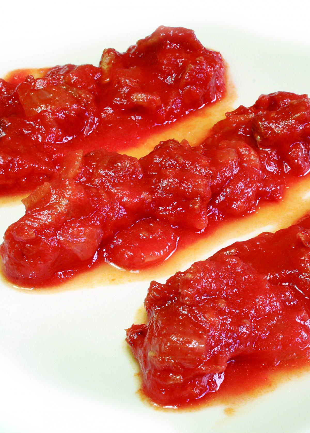 Recortes de Mojama en Tomate n1 en Barbate